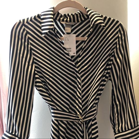 H&M striped midi dress.